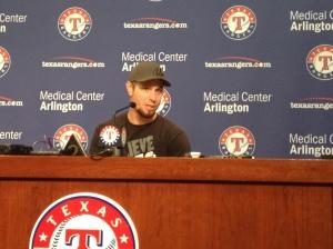 Josh Hamilton during Press Conference